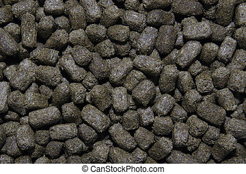 pet food - close up image of degu pellet food