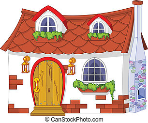 Cute Little House - Illustration of a cute little house