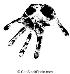 Hand print, skin texture pattern, vector illustration.