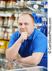Seller at home improvement store