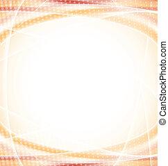 Abstract orange design template
