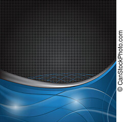 Abstract blue design template