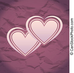 Valentine's Day vintage background with hearts