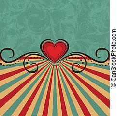Valentine's Day vintage background