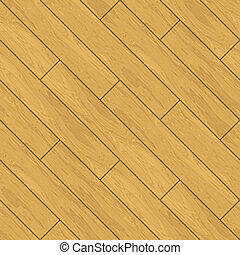 Seamless Parquet Wooden Flooring