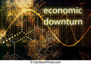 Economic Downturn Abstract Business Concept Wallpaper...