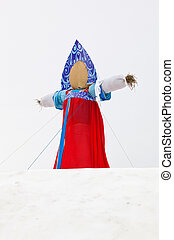 End of the winter Shrovetide Big doll for the burning