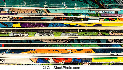 Comic Book Background Texture - Old Comic Book Paper...