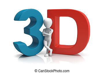 3D human. 3d image. On a white background