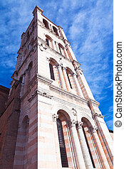 tower of Ferrara Cathedral, Italy