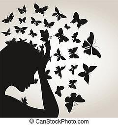 Butterflies from a head4