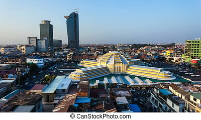 Timelapse of Phnom Penh Central Mar