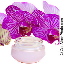 moisturizer cream and orchid
