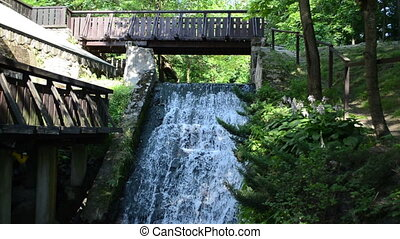 stream flow cascade mill
