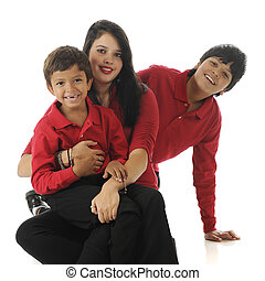 Happy Biracial Kids - Three biracial siblings (Asian Indian...