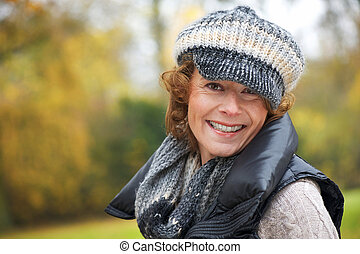 Middle Aged Smiling Woman - Portrait of a middle aged...
