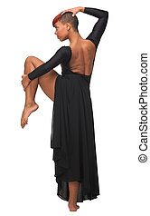 Portrait of a Beautiful African American Woman Dance Pose