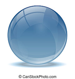 Blue abstract 3d icon ball