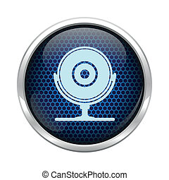 Blue honeycomb web cam icon