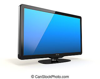 High Definition TV on white background. 3d