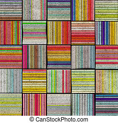 3d abstract striped tile backdrop in rainbow color