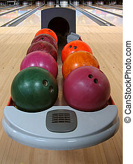 Colorful Bowling Balls - A variety of colorful bowling balls...