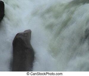 Athabasca River - Athabasa River and Waterfalls in Alberta,...