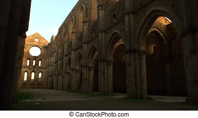 Abbey San Galgano - Interior of the unfished abbey of San...