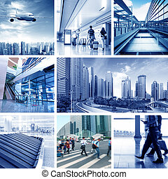the concept of the business scene . - business travel...