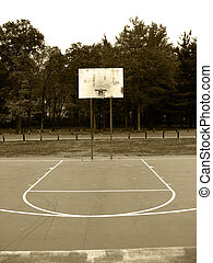 Basketball Hoop - A basketball hoop found at the park in...