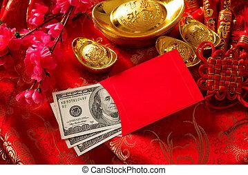 chino, nuevo, año, ang, Pow