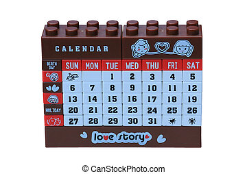Legos of desktop calendar
