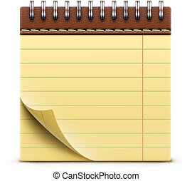 notebook icon - Vector illustration of coil bound notebook...