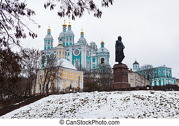 A view of the Assumption Cathedral in Smolensk
