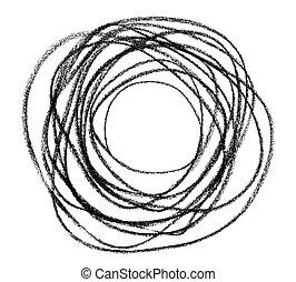 Black doodle circular shape