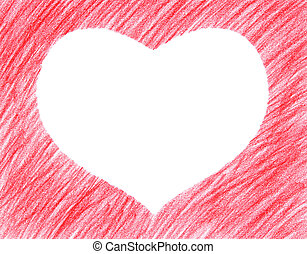 Hand-drawn red heart shape