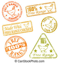 Free Range Rubber Stamps - Made with free range chicken...