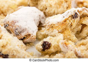 Close-up of a stollen