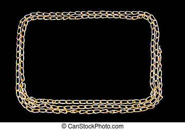 gilded chainlet on a black background