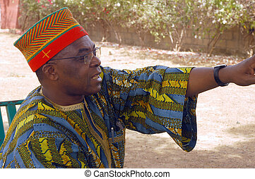 chief of African village