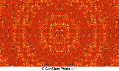 "Mandala ""Cross"" - On a red background circular gold..."