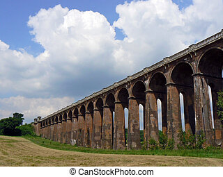 Balcombe Viaduct - The brick and arch viaduct on the London...
