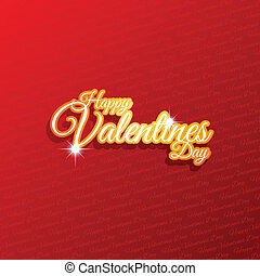 Valentines Day background with decorative text