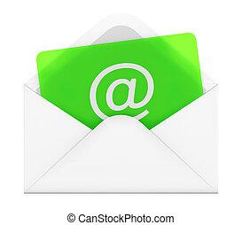 E-mail envelope - 3D illustration of e-mail envelope on...