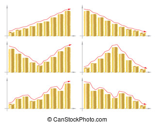 Business Graph - isolated illustration eps 10