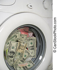 Money laundering close up - Money laundering concept