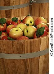 Fresh, juicy apples