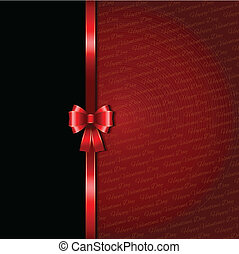 Valentines Day background with glossy red ribbon