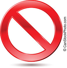 Empty Ban Sign Illustration on white background