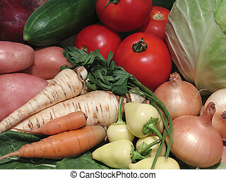 Vegetables bunch - Vegetables collection on one place